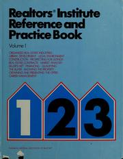 Cover of: Realtors institute reference and practice book | National Association of Realtors.