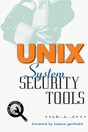 Cover of: UNIX System Security Tools | Seth T. Ross