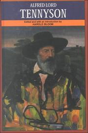 Cover of: Alfred Lord Tennyson | Harold Bloom