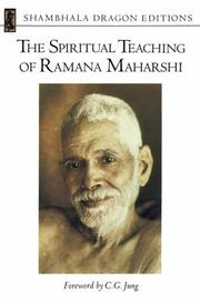 Cover of: The spiritual teaching of Ramana Maharshi | Ramana Maharshi.