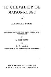 Cover of: Le chevalier de Maison-Rouge by Alexandre Dumas