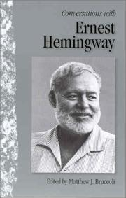 Cover of: Conversations with Ernest Hemingway | Ernest Hemingway