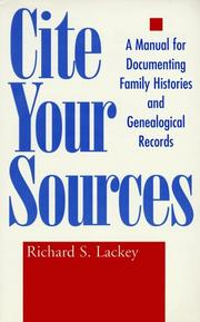 Cover of: Cite your sources | Richard S. Lackey