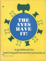 Cover of: The ayes have it | Charles V Carlson