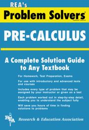 Cover of: The Pre-calculus problem solver | M. Fogiel, Research and Education Association, Dennis C. Smolarski