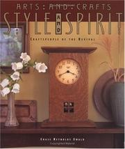 Cover of: Arts and crafts style and spirit | Chase Reynolds Ewald