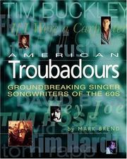 Cover of: American Troubadours | Mark Brend