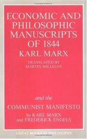 Cover of: The Economic and Philosophic Manuscripts of 1844 and the Communist Manifesto (Great Books in Philosophy) | Karl Marx