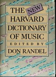 Cover of: The New Harvard dictionary of music | Don Michael Randel