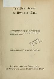Cover of: The new spirit | Havelock Ellis