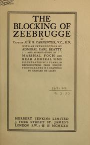 Cover of: The blocking of Zeebrugge | Alfred Francis Blakeney Carpenter