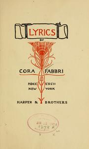 Cover of: Lyrics by Cora Randall Fabbri