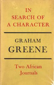 Cover of: In search of a character by Graham Greene