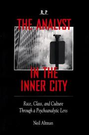 Cover of: The analyst in the inner city | Neil Altman