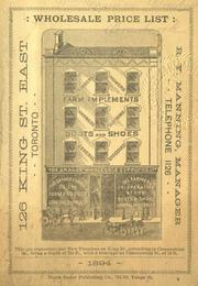 Wholesale price list [for] 1894