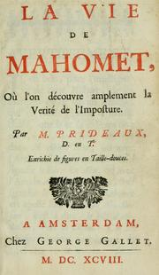 Cover of: La vie de Mahomet by Humphrey Prideaux