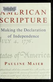 Cover of: American scripture by Pauline Maier