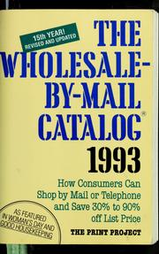 Cover of: The Wholesale-by-mail catalog, 1993 | Prudence McCullough