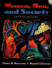 Cover of: Women, men, and society by Claire M. Renzetti