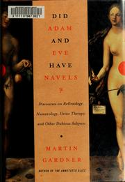 Cover of: Did Adam and Eve have navels? by Martin Gardner