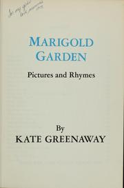 Cover of: Marigold garden | Kate Greenaway
