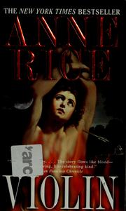 Cover of: Violin by Anne Rice
