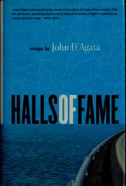 Cover of: Halls of fame by John D'Agata