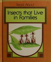 Cover of: Insects that live in families by Dean Morris