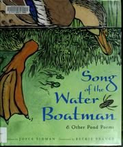 Cover of: Song of the water boatman | Joyce Sidman