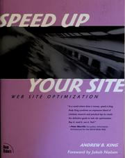 Cover of: Speed up your site by Andrew B. King