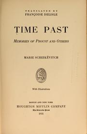 Cover of: Time past | Marie Scheikévitch