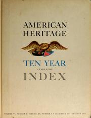 Cover of: American heritage ten year cumulative index |