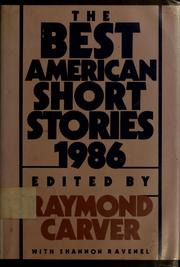 Cover of: The best American short stories, 1986 | Raymond Carver