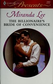 Cover of: The billionaire's bride of convenience by Miranda Lee