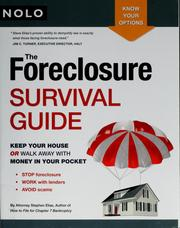 Cover of: The foreclosure survival guide | Stephen Elias