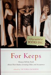 Cover of: For keeps | Victoria Zackheim