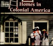 Cover of: Homes in Colonial America | Thomas, Mark