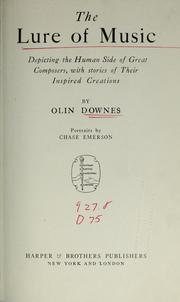 Cover of: The lure of music | Olin Downes