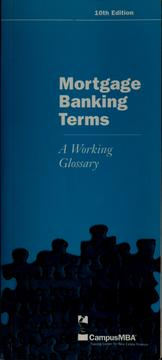 Cover of: Mortgage banking terms | Mortgage Bankers Association of America