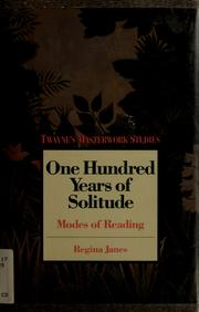 Cover of: One hundred years of solitude | Regina Janes