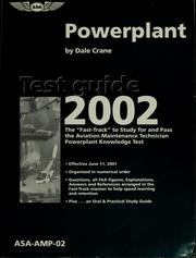 Cover of: Powerplant test guide 2002 | Dale Crane
