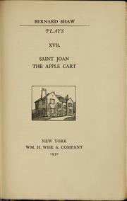 Plays (Apple Cart / Saint Joan)