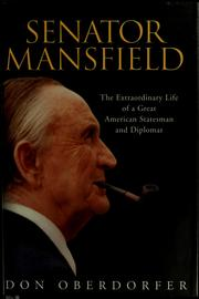 Cover of: Senator Mansfield by Don Oberdorfer