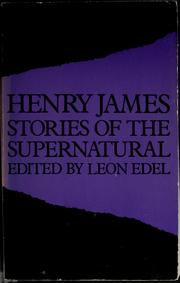 Cover of: Stories of the supernatural by Henry James, Jr.
