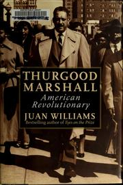 Cover of: Thurgood Marshall | Juan Williams