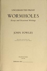 Cover of: Wormholes | John Fowles