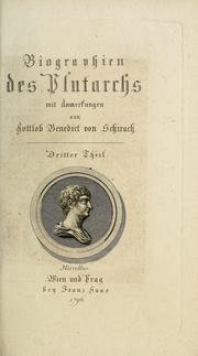 Cover of: Biographien des Plutarchs | Plutarch