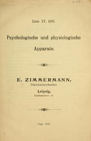 Cover of: Liste XV, 1897 | E. Zimmermann (Firm)
