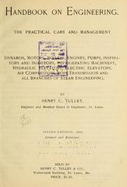 Cover of: Handbook on engineering | Henry Charles Tulley