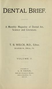 Cover of: Dental brief |